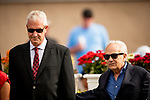 AUG 11: Jerry Hollendorfer and assistant trainer Dan Ward win their first stake since being reinstated at The Del Mar Thoroughbred Club in Del Mar, California on August 11, 2019. Evers/Eclipse Sportswire/CSM
