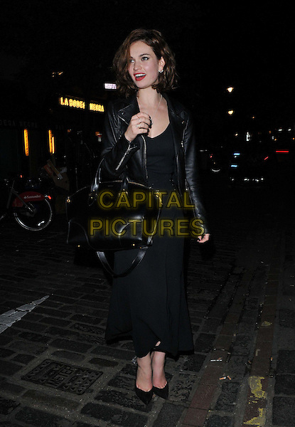 Lily James attends the Downton Abbey Wrap Party, The Ivy Club, West Street, London, England, UK, on Saturday 15 August 2015. <br /> CAP/CAN<br /> &copy;Can Nguyen/Capital Pictures