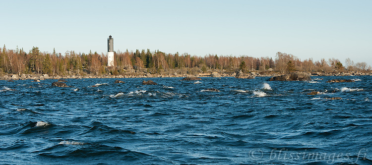 Korsö lighthouse warns of the rocky hazards in the Vaasa Archipelago in Western Finland.