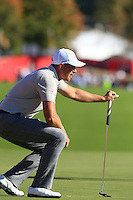 Henrik Stenson (Team Europe) on the 9th during Saturday afternoon Fourball at the Ryder Cup, Hazeltine National Golf Club, Chaska, Minnesota, USA.  01/10/2016<br /> Picture: Golffile | Fran Caffrey<br /> <br /> <br /> All photo usage must carry mandatory copyright credit (&copy; Golffile | Fran Caffrey)