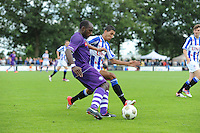 VOETBAL: DE KNIPE: Read Swart-complex, 21-07-2012, Oefenwedstrijd SC Heerenveen - K. Beerschot AC, Joachim Mununga (#10), Fahd Aktaou (#35), ©foto Martin de Jong
