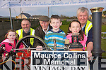 Friends and family of the late Maurice Collins are busy putting the final touches to the Ardfert Vintage Rally fund-raiser which has been organised in his memory. .Back L-R Joe McCarthy, Chairman of the committee Johnny Egan, and Ned Murphy. .Front L-R Aishling O'Connor, Gavin and Grainne Raggett
