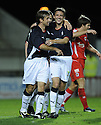 23/09/2008  Copyright Pic: James Stewart.File Name : sct_jspa04_falkirk_v_qots.NEIL MCCANN CELEBRATES WITH KEVIN MCBRIDE AFTER SCORING FALKIRK'S FIRST.James Stewart Photo Agency 19 Carronlea Drive, Falkirk. FK2 8DN      Vat Reg No. 607 6932 25.Studio      : +44 (0)1324 611191 .Mobile      : +44 (0)7721 416997.E-mail  :  jim@jspa.co.uk.If you require further information then contact Jim Stewart on any of the numbers above........