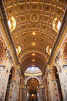 Interior roof of St Peters Cathedral, The Vatican.