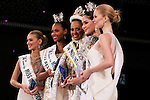 """(L to R) Miss United Kingdom Victoria Charlotte Tooby, Miss Colombia Zuleika Kiara Suarez Torrenegra, Miss Puerto Rico Valerie Hernandez Matias, Miss Thailand Punika Kulsoontornrut, Miss Finland Milla Romppanen, November 11, 2014, Tokyo, Japan : (L to R) Miss United Kingdom Victoria Charlotte Tooby, Miss Colombia Zuleika Kiara Suarez Torrenegra, Miss Puerto Rico Valerie Hernandez Matias, Miss Thailand Punika Kulsoontornrut and Miss Finland Milla Romppanen pose for the cameras at """"The 54th Miss International Beauty Pageant 2014"""" on November 11, 2014 in Tokyo, Japan. The pageant brings women from 65 countries and regions to Japan to become new """"Beauty goodwill ambassadors"""" and also donates money to underprivileged children around the world thought their """"Mis International Fund"""". (Photo by Rodrigo Reyes Marin/AFLO)"""