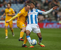 Preston North End's Aidan McGeady holds off the challenge from Huddersfield Town's Rajiv van La Parra<br /> <br /> Photographer Alex Dodd/CameraSport<br /> <br /> The EFL Sky Bet Championship - Huddersfield Town v Preston North End - Friday 14th April 2016 - The John Smith's Stadium - Huddersfield<br /> <br /> World Copyright &copy; 2017 CameraSport. All rights reserved. 43 Linden Ave. Countesthorpe. Leicester. England. LE8 5PG - Tel: +44 (0) 116 277 4147 - admin@camerasport.com - www.camerasport.com