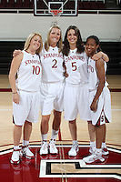 STANFORD, CA - SEPTEMBER 28:  JJ Hones, Jayne Appel, Michelle Harrison, and Melanie Murphy during picture day on September 28, 2009 at Maples Pavilion in Stanford, California.