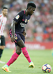 FC Barcelona's Samuel Umtiti during La Liga match. August 28,2016. (ALTERPHOTOS/Acero)