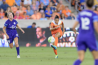 Poliana Barbosa (2) of the Houston Dash passes the ball against the Orlando Pride on Friday, May 20, 2016 at BBVA Compass Stadium in Houston Texas. The Orlando Pride defeated the Houston Dash 1-0.
