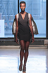 Model walks runway in an outfit from the Cristina Ruales Fall Winter 2016 collection, at Inglot on February 10 2016, during New York Fashion Week Fall 2016.
