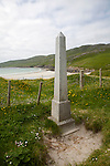 Memorial to the loss of life from the shipwreck of the Annie Jane emigrant ship wrecked in 1853, Vatersay Island, Barra, Outer Hebrides, Scotland, UK