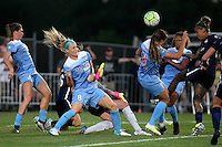 Piscataway, NJ - Saturday Aug. 27, 2016: Arin Gilliland Julie Johnson, Tasha Kai during a regular season National Women's Soccer League (NWSL) match between Sky Blue FC and the Chicago Red Stars at Yurcak Field.
