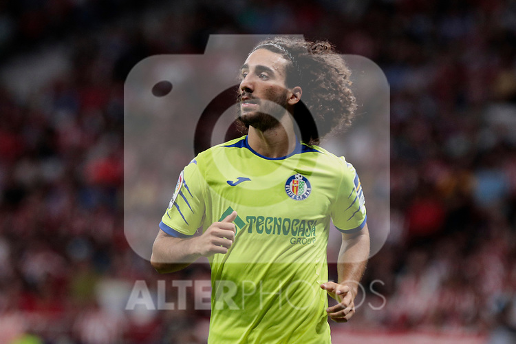 Getafe CF's Marc Cucurella during La Liga match between Atletico de Madrid and Getafe CF at Wanda Metropolitano Stadium in Madrid, Spain. August 18, 2019. (ALTERPHOTOS/A. Perez Meca)
