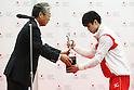 (L-R) Tsunekazu Takeda, Kohei Uchimura, <br /> JUNE 23, 2016 - News : JOC Sports Awards ceremony in Tokyo, Japan. (Photo by Sho Tamura/AFLO SPORT)