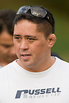 Bombay coach Andrew Tuphi. Counties Manukau Premier club rugby game between Bombay & Pukekohe played at Bombay on the 19th of May 2007. Pukekohe led 24 - 0 at halftime & went on to win 30 - 22.