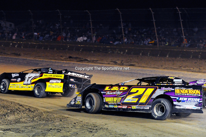Sep 12, 2010; 12:36:26 AM; Rossburg, OH., USA; The 40th annual running of the World 100 Dirt Late Models racing for the Globe trophy at the Eldora Speedway.  Mandatory Credit: (thesportswire.net)