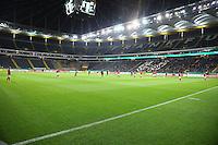 Viele freie Plätze in der Commerzbank Arena nach der DFB Strafe - 25.10.2016: Eintracht Frankfurt vs. FC Ingolstadt 04, 2. Hauptrunde DFB-Pokal, Commerzbank Arena