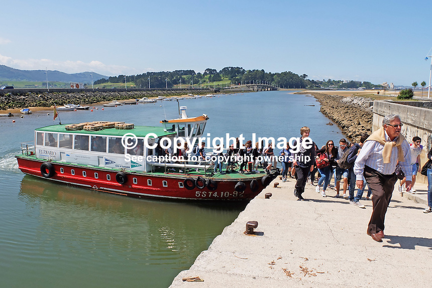 Regina Pacis Sexto, 5ST4.10-92, Santander, Spain, arriving Somo to disembark &amp; embark passengers on sightseeing trip around Bay of Santander, May, 2015, 201505080902<br />