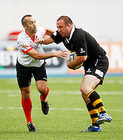 Photo: Richard Lane/Richard Lane Photography. Saracens Legends v Wasps Legends. 05/10/2013.