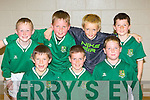 The Listowel Celtic team that competed in the FAI Futsal blitz in Killarney Sportscentre on Sunday front row l-r: Jerry Clancy, Darren Loughnane, Glen Carey. Back row: Neilus MacKessy, Benedict Godfrey, Fe?idhlim Roberts and Ashley Kelleher