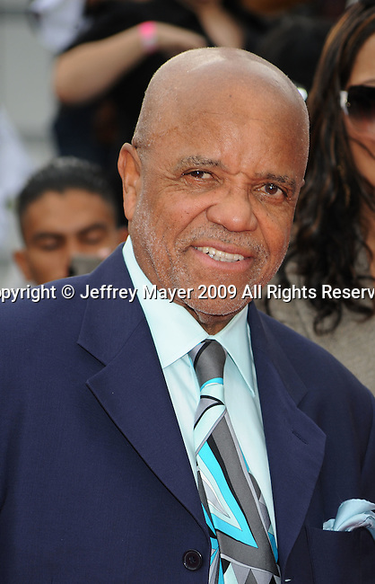 "LOS ANGELES, CA. - October 27: Berry Gordy arrives at the Los Angeles Premiere of ""This Is It"" held at Nokia Theatre L.A. Live on October 27, 2009 in Los Angeles, California."