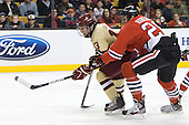 Johnny Gaudreau (BC - 13), Luke Eibler (Northeastern - 20) - The Boston College Eagles defeated the Northeastern University Huskies 7-1 in the opening round of the 2012 Beanpot on Monday, February 6, 2012, at TD Garden in Boston, Massachusetts.