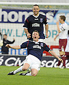 05/05/2008   Copyright Pic: James Stewart.File Name : sct_jspa05_falkirk_v_hearts.THOMAS SCOBBIE CELEBRATES  AFTER HE SCORES FALKIRK'S FIRST.James Stewart Photo Agency 19 Carronlea Drive, Falkirk. FK2 8DN      Vat Reg No. 607 6932 25.Studio      : +44 (0)1324 611191 .Mobile      : +44 (0)7721 416997.E-mail  :  jim@jspa.co.uk.If you require further information then contact Jim Stewart on any of the numbers above........