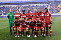Chicago Fire starting eleven during the first half of a Major League Soccer match between the New York Red Bulls and the Chicago Fire at Red Bull Arena in Harrison, NJ, on March 27, 2010. The Red Bulls defeated the Fire 1-0.