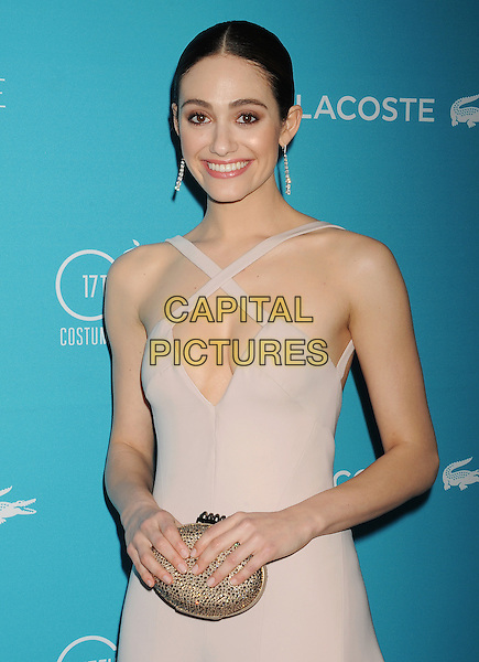 BEVERLY HILLS, CA - FEBRUARY 17: Actress/host Emmy Rossum attends the 17th Costume Designers Guild Awards at The Beverly Hilton Hotel on February 17, 2015 in Beverly Hills, California.<br /> CAP/ROT/TM<br /> &copy;TM/ROT/Capital Pictures