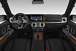 Stock photo of straight dashboard view of a 2019 Mercedes Benz G-Class G-550 5 Door SUV