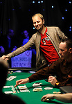 Daniel Negreanu is eliminated at the end of level 2.