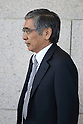 Haruhiko Kuroda, president of the Asian Development Bank and Bank of Japan (BOJ) Governor candidate, after Diet Hearing at The House of Councillors on 11 Mar 2013 Tokyo Japan