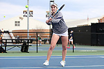 WINSTON-SALEM, NC - MARCH 17: Notre Dame's Jane Fennelly (IRL). The Wake Forest University Demon Deacons hosted the University of Notre Dame Fighting Irish on March 17, 2017, at Wake Forest Tennis Center in Winston-Salem, NC in a Division I College Women's Tennis match. Notre Dame won the match 4-1.