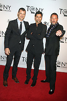 Trey Parker, John Stamos and Matt Stone at the 66th Annual Tony Awards at The Beacon Theatre on June 10, 2012 in New York City. Credit: RW/MediaPunch Inc. NORTEPHOTO.COM