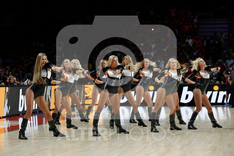 Cheerleaders during FIBA Basketball World Cup Spain 2014 match between Spain and France at `Palacio de los deportes´ stadium in Madrid, Spain. September 10, 2014. (Victor Blanco)