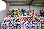 MERRY MEN: All the teams who played in the under 8st Hurling Blitz at Causeway Hurling Grounds on Saturday with Maurice Leahy (hurling officer of Kerrry County Board).