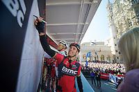 Philippe Gilbert (BEL/BMC) signing in<br /> <br /> Brabantse Pijl 2014