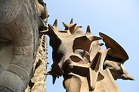 Constellations, Nativity façade, La Sagrada Familia, Roman Catholic basilica, Barcelona, Catalonia, Spain, built by Antoni Gaudí (Reus 1852 ? Barcelona 1926) from 1883 to his death. Still incomplete. Picture by Manuel Cohen