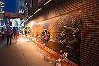 Memorial Wall of the 343 firefighters of FDNY
