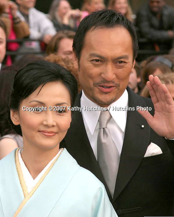 Ken Wantanabe & Guest.79th Annual Academy Awards.Kodak Theater .Hollywood & Highland.Hollywood, CA.February 25, 2007.©2007 Kathy Hutchins / Hutchins Photo....
