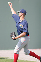 July 25th, 2007:  Steve Cheney of the Brooklyn Cyclones, Short-Season Class-A affiliate of the New York Mets a Dwyer Stadium in Batavia, NY.  Photo by:  Mike Janes/Four Seam Images