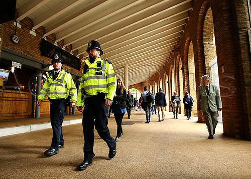 May 29th 2017, Lords, London, England, One Day International Cricket, England versus South Africa; A strong Police presence is in force at the ground, as spectators arrive for the match