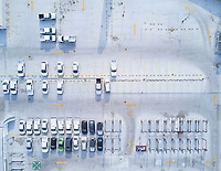Parking lot of the insurgentes mall, Aerial drone photo, Mexico City, Mexico