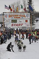 Kjetil Backen Willow restart Iditarod 2008.