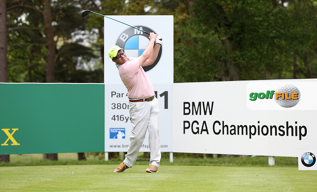 Greig Hutcheon (SCO) during Round Two of the 2015 BMW PGA Championship over the West Course at Wentworth, Virginia Water, London. 22/05/2015Picture David Lloyd, www.golffile.ie.