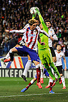 Atletico de Madrid´s Fernando Torres and Valencia CF´s goalkeeper Diego Alves during 2014-15 La Liga match between Atletico de Madrid and Valencia CF at Vicente Calderon stadium in Madrid, Spain. March 08, 2015. (ALTERPHOTOS/Luis Fernandez)