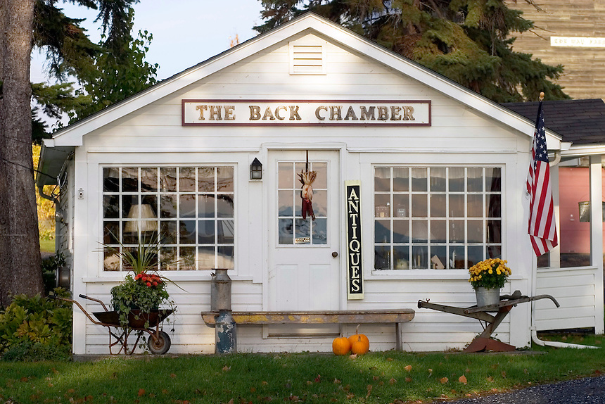 The Back Chamber antiques in North Hero, Vermont.  Lake Champlain Islands.