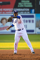 Miguel Sano (24) of the Chattanooga Lookouts throws during a game between the Jackson Generals and Chattanooga Lookouts at AT&T Field on May 7, 2015 in Chattanooga, Tennessee. (Brace Hemmelgarn/Four Seam Images)