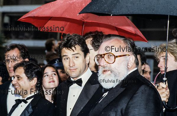 Cannes, 1984, Sergio Leone con Robert De Niro, Sergio Leone with Robert De Niro