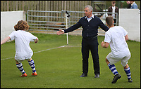 BNPS.co.uk (01202 558833)<br /> Pic: RichardCrease/BNPS<br /> <br /> Souness warms up his team.<br /> <br /> Charity football match in aid of the Louis Ross Foundation held at Wimborne Town Football Club  with guest managers Eddie Howe and Graeme Souness taking charge of the  two teams made up of former school friends and football friends of Louis, 17, who died in a skiing accident in France.